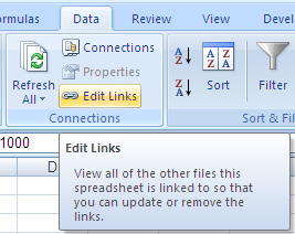 Excel: Edit Links