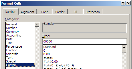 Excel: Format Cells, Custom