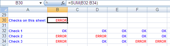 Excel: Summing Up Checks