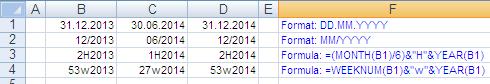 Excel: Date Formatting